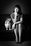 Geri Maye with her loyal pet Clooney in our portrait collection.