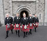 Groom and groomsmen at St. Mary's Church in Limerick