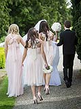 Bridal party at wedding at Adare Manor, Adare, Co. Limerick, Ireland.