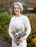 The beautiful bride at her wedding reception at Ballygarry House, Tralee, Co. Kerry.