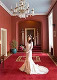 Bride at the beautiful Dromoland Castle posing for a portrait before heading to her wedding, at the Cliffs of Moher for Co. Clare, Ireland.