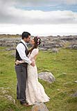 Wedding couple in the Burren Co. Clare on the west coast of Ireland.