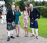 Wedding guests pose for photographs at AnnaCarriga Killaloe, Co. Clare, Ireland.