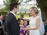 Newly married couple at their wedding at AnnaCarriga Killaloe, Co. Clare, Ireland.