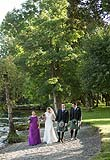 Bridal party on the beautiful grounds of AnnaCarriga, Killaloe, Co. Clare Ireland.