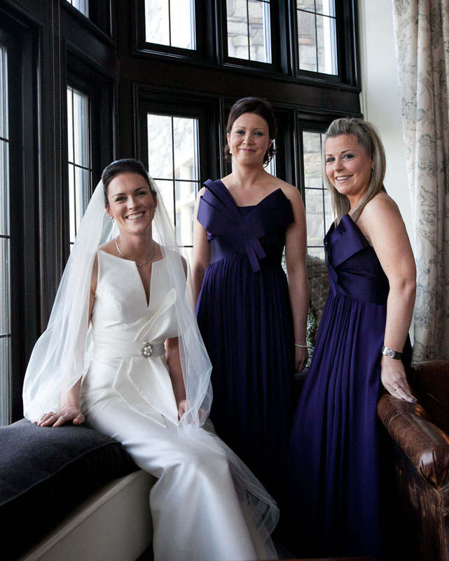 Cormac Byrne Photography's  Wedding Images taken in Doonbeg Lodge in Co.Clare: Bridal & Bridesmaids
