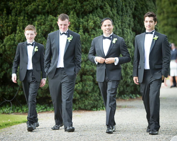 Groom with his groomsmen after his wedding at Adare Manor, Adare, Co. Limerick.