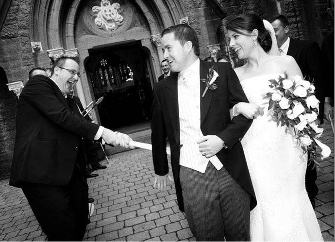 Reportage wedding photography at Rathkeale Church by Cormac Byrne,  Limerick.
