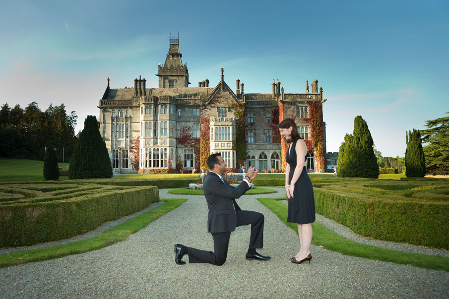 Wedding proposal at Adare Manor, Co. Limerick, Ireland