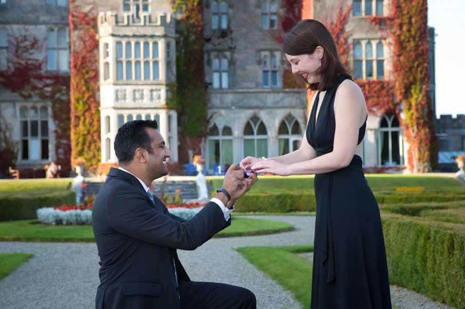 A huge yes to this wedding proposal at the Manor, Adare, Co. Limerick, Ireland