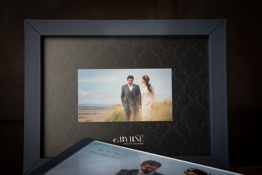 Beautiful wedding book and box collection of a wedding photographed in the Burren Co.Clare